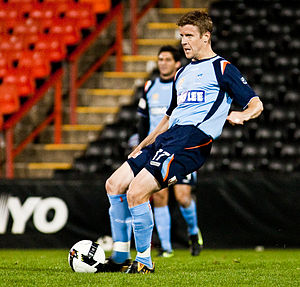 Chris Innes - Innes playing for Sydney FC in a trial match, 2009