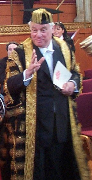 Chris Patten - Patten in ceremonial dress as the Chancellor of the University of Oxford