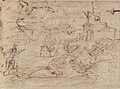 Christ and the Centurion (recto); Figure Waving to Departing Ship (verso). MET 2006.393.23b.jpg
