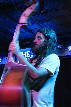 The Blind Owl Band - Christian Cardiello of The Blind Owl Band on bass at The Saint in Asbury Park, NJ, July 2013