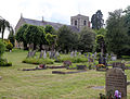 Church of Ss Mary & Lawrence - church and churchyard from north-west.JPG