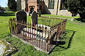 Church of St Mary, High Easter, Essex, England - graveyard tomb at south.jpg