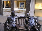 Statue of Churchill and Franklin D. Roosevelt in Bond Street, London
