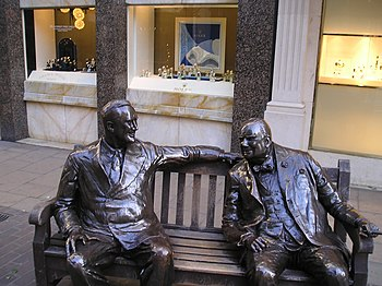 Franklin D. Roosevelt and Winston Churchill, N...