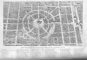 Circleville, Ohio - A map of Circleville from 1836