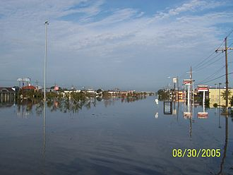 Metairie, Louisiana - The intersection of Clearview and Veterans the day after Katrina