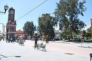Calimaya - Clock tower and plaza