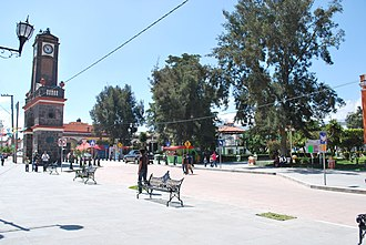 Calimaya - Clock tower and plaza