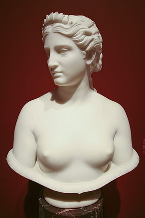 Clytie (Oceanid) - Bust of Clytie, by Hiram Powers, modeled 1865–1867, carved 1873.