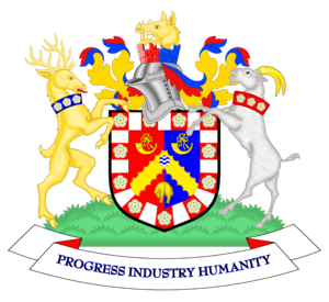 The coat of arms of Bradford City Council
