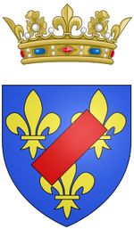 Description de l'image Coat of arms of Louis Alexandre de Bourbon, Légitimé de France, Count of Toulouse.png.