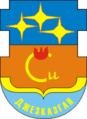 Coat of arms of Zhezkazgan.png