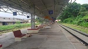 Cochin Harbour Terminus railway station - Image: Cochin Harbour Terminus platform 1 & 2 കൊച്ചിന് ഹാര്ബര് ടെര്മിനസ്