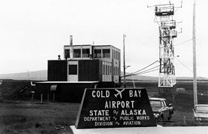 Thornbrough Air Force Base - The control tower at Cold Bay airport in August 1972.