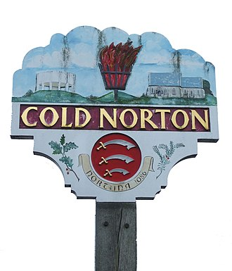 Cold Norton - Image: Cold norton sign