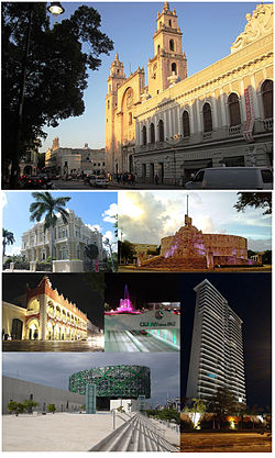 Collage of the city of Mérida.
