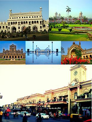 "Clockwise from top: <a href=""http://search.lycos.com/web/?_z=0&q=%22Bada%20Imambara%22"">Bada Imambara</a>, <a href=""http://search.lycos.com/web/?_z=0&q=%22Lucknow%20Charbagh%20railway%20station%22"">Charbagh Railway Station</a>, <a href=""http://search.lycos.com/web/?_z=0&q=%22Rumi%20Darwaza%22"">Rumi Darwaza</a>, <a href=""http://search.lycos.com/web/?_z=0&q=%22Hazratganj%22"">Hazratganj</a>, <a href=""http://search.lycos.com/web/?_z=0&q=%22La%20Martiniere%20Lucknow%22"">La Martiniere School</a>, <a href=""http://search.lycos.com/web/?_z=0&q=%22Ambedkar%20Memorial%20Park%22"">Ambedkar Memorial Park</a>."