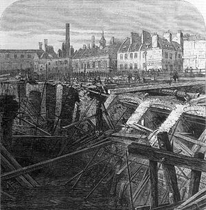 Metropolitan Railway - Image: Collapse of the Metropolitan Railway Cutting