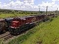 Comboios em cruzamento no pátio da Estação Ferroviária de Salto - Variante Boa Vista-Guaianã km 210 - panoramio.jpg