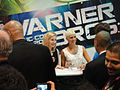 "Comic-Con 2010 - Elizabeth Mitchell and Morena Baccarin from ""V"" sign for fans at the Warner Bros booth (4874444701).jpg"