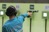 Competition in air pistol shooting from a distance - 10 meters at the Olympic Games in 2016 07.jpg