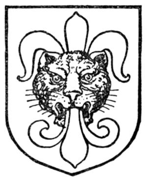 Heads in heraldry - A leopard's head jessant-de-lis