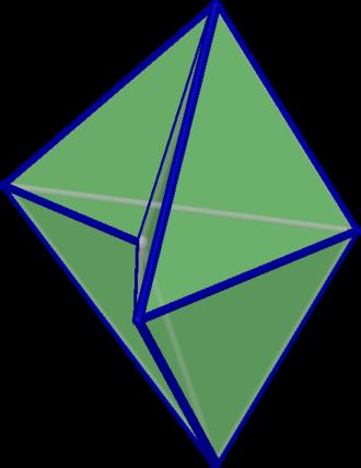 Bipyramid - Image: Concave quadrilateral bipyramid