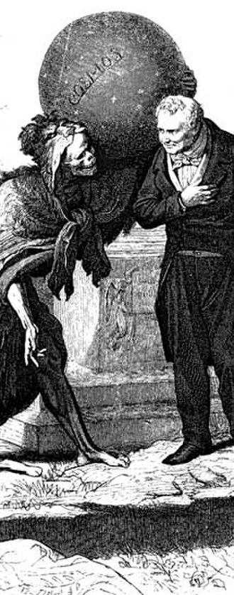 Kosmos (Humboldt) - A portrait of Humboldt greeting death, by Wilhelm von Kaulbach, 1869