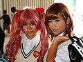 Cosplayer of Kuroko Shirai and Mikoto Misaka 20121208.jpg
