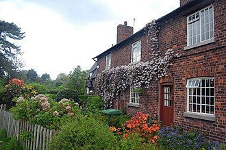 Quarry Bank Mill - Image: Cottages at Styal Village geograph.org.uk 1287220