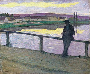 Sunset on Pont-Aven (Young Man in front of the Sea)