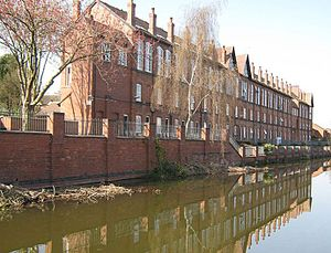 Topshop (workshop) - Image: Coventry Canal Near Cash's Lane crop