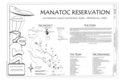 Cover Sheet and Site Map - Manatoc Reservation, 1075 Truxell Road, Peninsula, Summit County, OH HABS OH-2483 (sheet 1 of 3).png