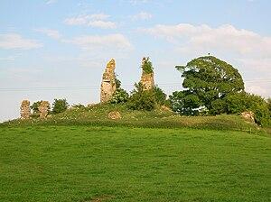 Craigie Castle - Craigie Castle from Craigie Mains farm