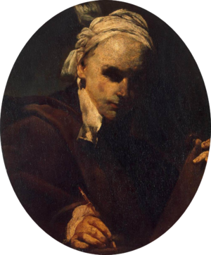 Crespi, Giuseppe Maria -- Self-Portrait - c. 1700-transparent.png