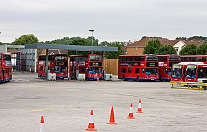 Metroline - Cricklewood garage, also the Metroline headquarters