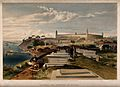 Crimean War, Scutari; hospital and cemetery. Coloured lithog Wellcome V0015445.jpg
