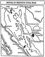 Cristero War Map 'Chicago Daily Tribune' 1929-04-02