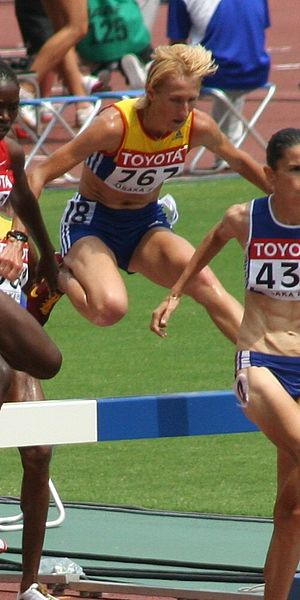 3000 metres steeplechase world record progression - Romania's Cristina Casandra ran world best times before the women's event gained official recognition.