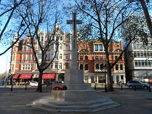 Sloane Square - War memorial in Sloane Square.