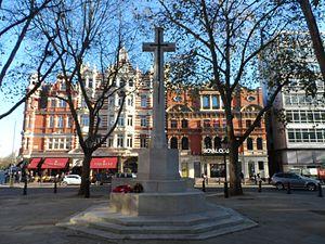 Sloane Square - War memorial in Sloane Square.