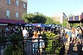 Crowd listening to music, City Market, Savannah.jpg