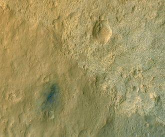 "Bradbury Landing - ""Bradbury Landing"" - the Curiosity Rover Landing Site - viewed by HiRISE (MRO) (August 14, 2012)."