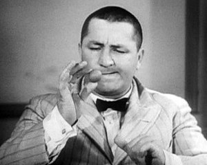1952 in film - Curly Howard in Disorder in the Court.
