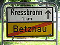 D-BW-Kressbronn-Betznau - Ortsschild nach Kressbronn.JPG