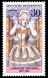 Briefmarke, abgebildet im Wikipedia-Artikel zur Neuberin