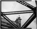 DECORATIVE IRONWORK - Bridgeport Bridge, Spanning West Channel of Ohio River, U.S. Route 40, Wheeling, Ohio County, WV HAER WVA,35-WHEEL,5-19.tif