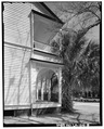 DETAIL OF SOUTH END OF FRONT PORCH, FACING NORTHEAST - Roy Hall, 1820 Calhoun Street, New Orleans, Orleans Parish, LA HABS LA,36-NEWOR,102-8.tif