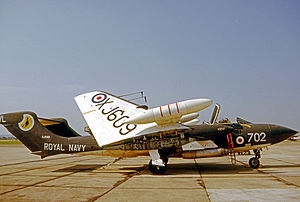 De Havilland Sea Vixen - Sea Vixen FAW.2 of 890 NAS Squadron at RNAS Yeovilton in 1971