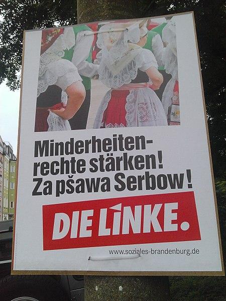 Datei:DIE LINKE Wahlplakat Cottbus.jpg